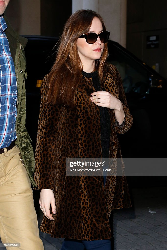 <a gi-track='captionPersonalityLinkClicked' href=/galleries/search?phrase=Dakota+Johnson&family=editorial&specificpeople=2091563 ng-click='$event.stopPropagation()'>Dakota Johnson</a> seen arriving at the BBC Radio 1 Studios on February 10, 2016 in London, England.