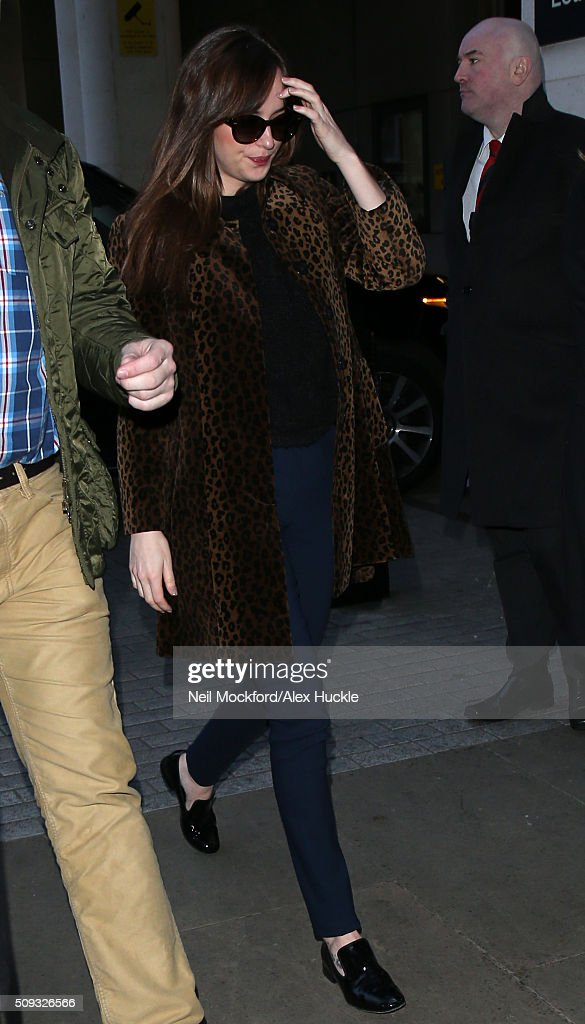 <a gi-track='captionPersonalityLinkClicked' href=/galleries/search?phrase=Dakota+Johnson&family=editorial&specificpeople=2091563 ng-click='$event.stopPropagation()'>Dakota Johnson</a> seen at BBC Radio One on February 10, 2016 in London, England.