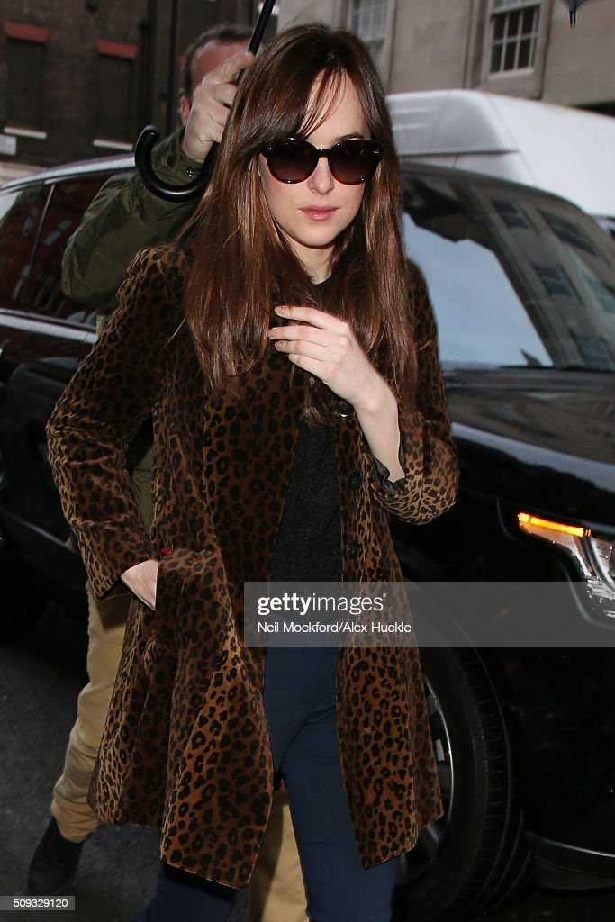 <a gi-track='captionPersonalityLinkClicked' href=/galleries/search?phrase=Dakota+Johnson&family=editorial&specificpeople=2091563 ng-click='$event.stopPropagation()'>Dakota Johnson</a> seen at Claridges Hotel on February 10, 2016 in London, England.