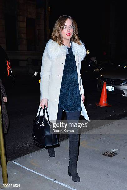 Dakota Johnson seen on January 20 2016 in New York City