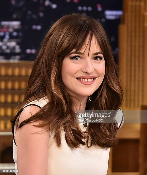 Dakota Johnson Visits 'The Tonight Show Starring Jimmy Fallon' at Rockefeller Center on February 10 2015 in New York City