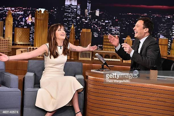 Dakota Johnson Visits 'The Tonight Show Starring Jimmy Fallon' at Rockefeller Center on February 10 2015 in New York City