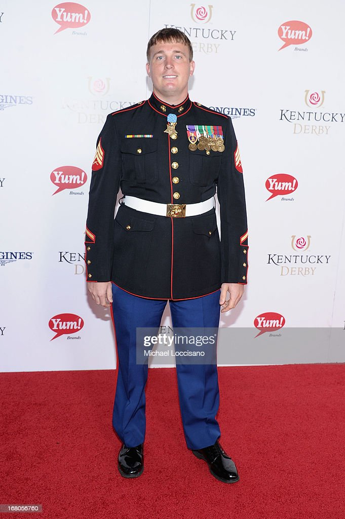 Dakota Meyer attends the 139th Kentucky Derby at Churchill Downs on May 4, 2013 in Louisville, Kentucky.