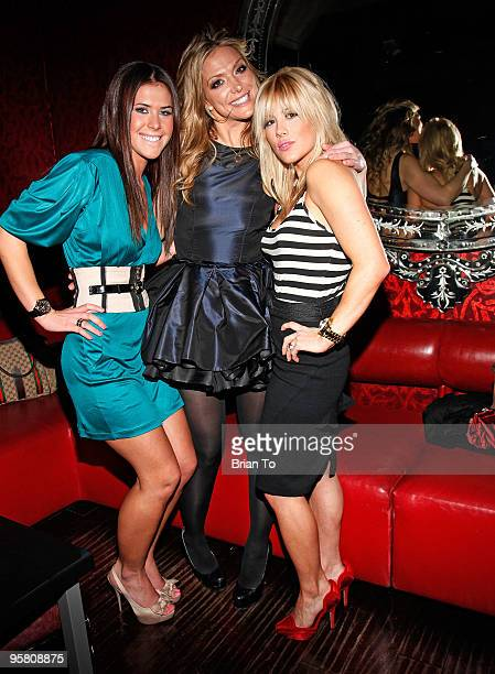 Dakota Pike Debbie Matenopoulos and Shayne Lamas celebrate Havener's birthday at Beso Restaurant at Beso on January 15 2010 in Hollywood California