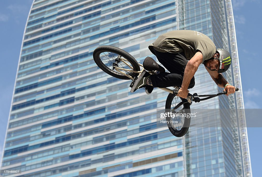 Dakota Roche competes in the BMX Steet Final during X Games Los Angeles at the Event Deck at L. A. Live on August 3, 2013 in Los Angeles, California.