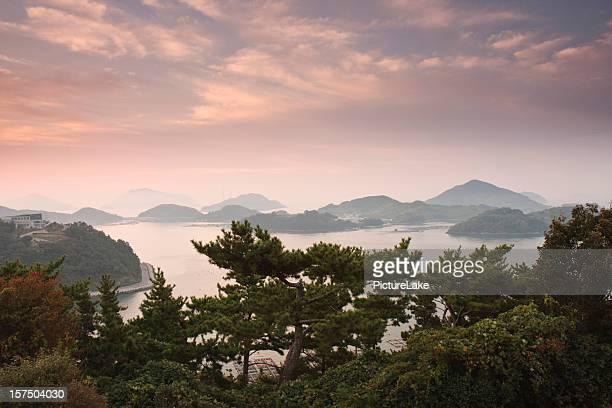 Parc de Dala pré-vue sur le lever du soleil, Corée du Sud