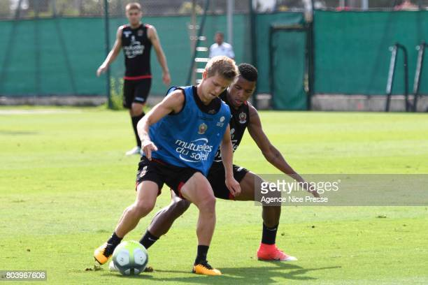 Dalbert Henrique and Vincent Koziello of Nice during training session of OGC Nice on June 30 2017 in Nice France