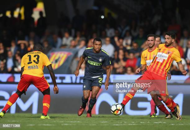 Dalbert Henrique Chagas Estevão of FC Internazionale in action during the Serie A match between Benevento Calcio and FC Internazionale at Stadio Ciro...