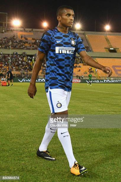 Dalbert Henrique Chagas Estevão of FC Internazionale looks on prior to the PreSeason Friendly match between FC Internazionale and Real Betis at...