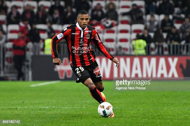 Dalbert Henrique of Nice during the French Ligue 1 match between Nice and Montpellier on February 24 2017 in Nice France