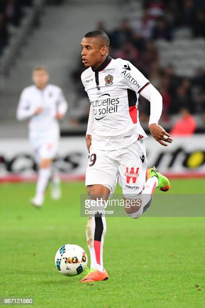 Dalbert Henrique of Nice during the French Ligue 1 match between Lille OSC and OGC Nice at Stade PierreMauroy on April 7 2017 in Lille France