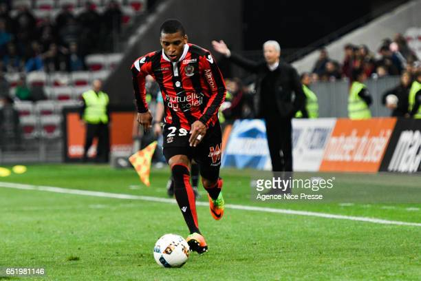 Dalbert Henrique of Nice during the Ligue 1 match between OGC Nice and SM Caen at Allianz Riviera on March 10 2017 in Nice France