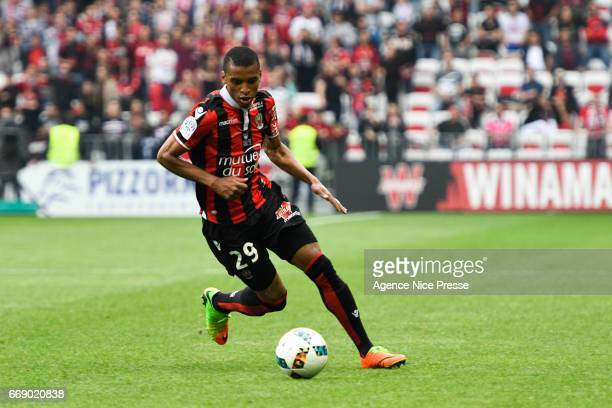 Dalbert Henrique of Nice during the Ligue 1 match between OGC Nice and As Nancy Lorraine at Allianz Riviera on April 15 2017 in Nice France