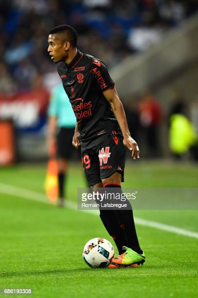 Dalbert Henrique of Nice during the Ligue 1 match between Olympique Lyonnais and OGC Nice at Stade des Lumieres on May 20 2017 in Decimes France