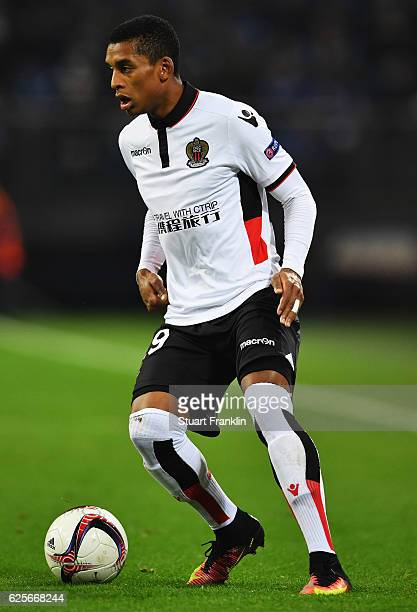 Dalbert Henrique of Nice in action during the UEFA Europa League match between FC Schalke 04 and OGC Nice at VeltinsArena on November 24 2016 in...