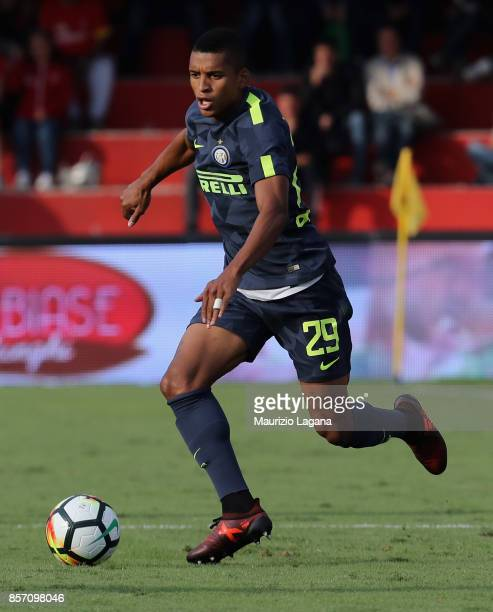 Dalbert of Inter during the Serie A match between Benevento Calcio and FC Internazionale at Stadio Ciro Vigorito on October 1 2017 in Benevento Italy