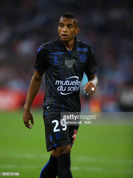 Dalbert of OGC Nice during the UEFA Champions League Qualifying Third Round match between Ajax and OSC Nice at Amsterdam Arena on August 2 2017 in...