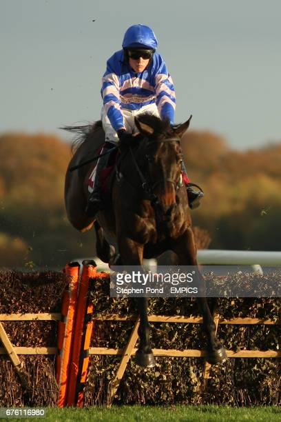 Daldini ridden by Tjade Collier during The Subscribe On Line At racingukcom Handicap Hurdle Race