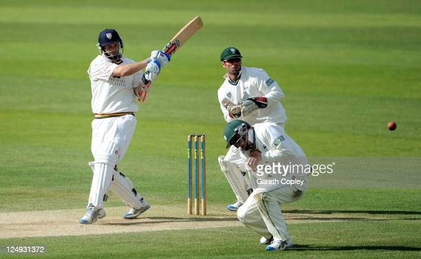 Dale Benkenstein of Durham bats during day three of the LV County Championship match between Durham and Worcestershire at The Riverside on September...