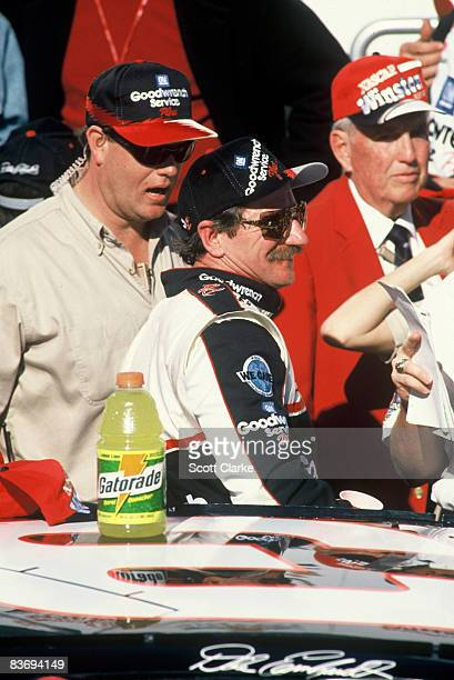 Dale Earnhardt in the mid 90's raciing at Daytona International Speedway and winning one of his many twin 125's Daytona Florida