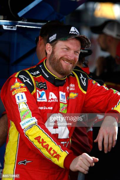 Dale Earnhardt Jr Axalta Ducks Unlimited Chevrolet SS during practice for the Bass Pro Shop NRA 500 at Bristol Motor Speedway on August 18 2017 Photo...