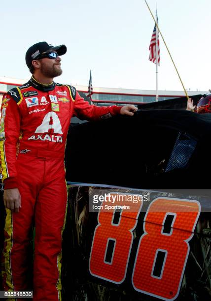 Dale Earnhardt Jr Axalta Ducks Unlimited Chevrolet SS during the running of the 57th annual Bass Pro Shops NRA Night Race 500 on August 192017