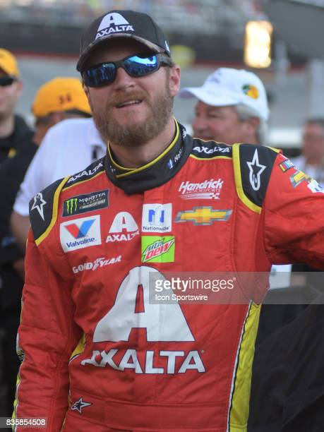 Dale Earnhardt Jr Axalta/Ducks Unlimited Chevrolet SS before the NASCAR Monster Energy Cup Series Bass Pro Shops NRA Night Race on August 19 at...