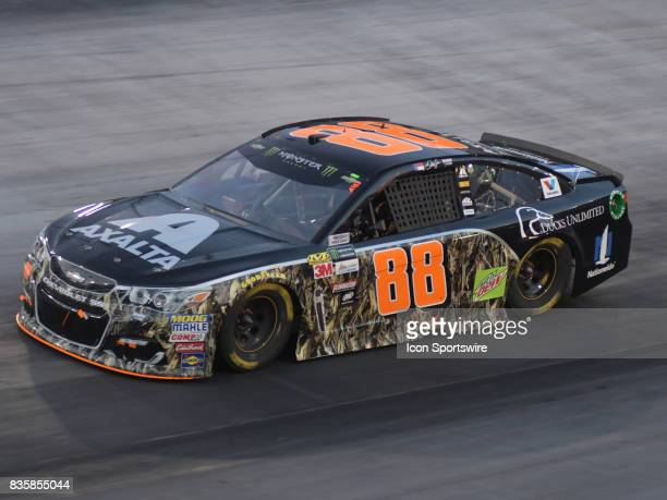 Dale Earnhardt Jr Axalta/Ducks Unlimited Chevrolet SS during the NASCAR Monster Energy Cup Series Bass Pro Shops NRA Night Race on August 19 at...