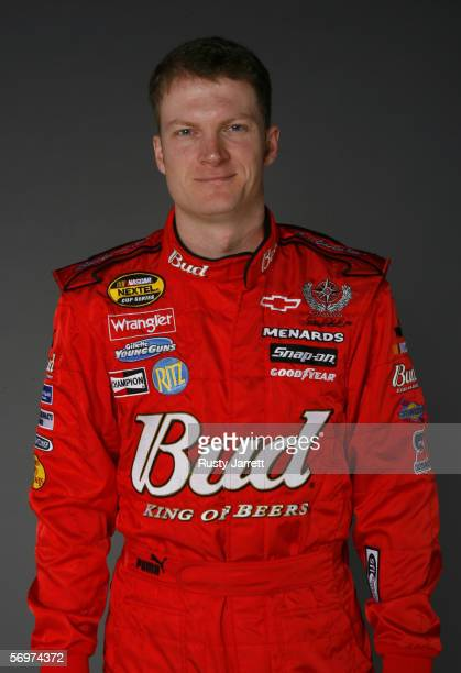 Dale Earnhardt Jr driver of Budweiser Chevrolet at NASCAR media day Daytona International Speedway on February 9 2006 in Daytona Florida