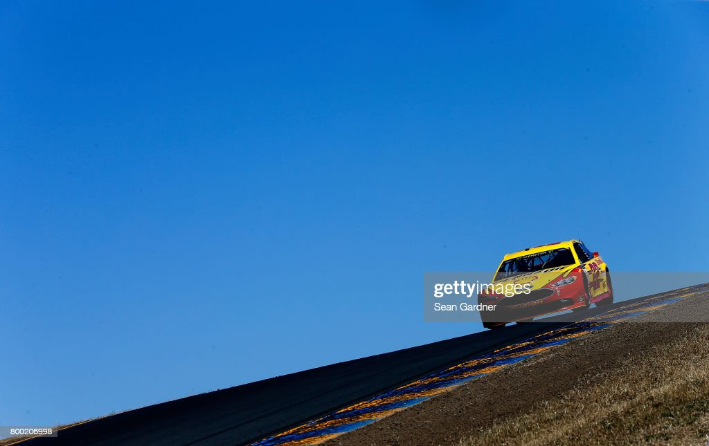 Dale Earnhardt Jr., driver of the #88 Axalta Chevrolet, drives during practice for the Monster Energy NASCAR Cup Series Toyota/Save Mart 350 at Sonoma Raceway on June 23, 2017 in Sonoma, California.