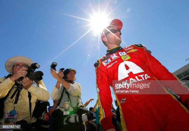 Dale Earnhardt Jr driver of the Axalta Chevrolet prpeares to race before the Monster Energy NASCAR Cup Series Camping World 500 at Phoenix...