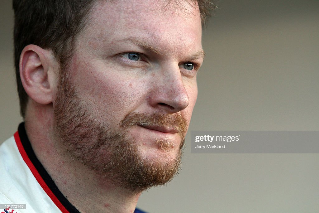 Dale Earnhardt Jr., driver of the #88 National Guard Chevrolet, during practice for the NASCAR Sprint Cup Series Sprint Unlimited at Daytona International Speedway on February 15, 2013 in Daytona Beach, Florida.