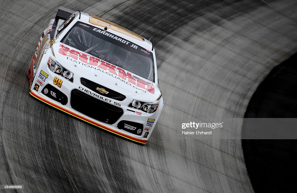 Dale Earnhardt Jr., driver of the #88 National Guard Chevrolet, practices for the NASCAR Sprint Cup Series FedEx 400 Benefiting Autism Speaks at Dover International Speedway on May 30, 2014 in Dover, Delaware.