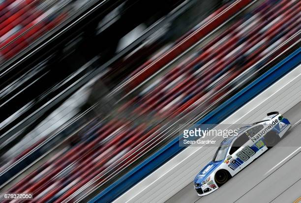Dale Earnhardt Jr driver of the Nationwide Chevrolet practices for the Monster Energy NASCAR Cup Series GEICO 500 at Talladega Superspeedway on May 5...