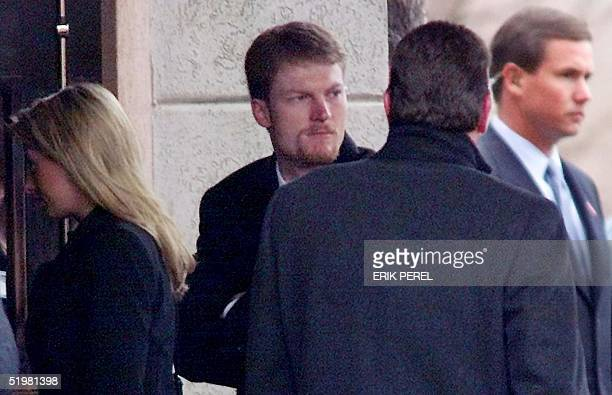 Dale Earnhardt Jr enters Calvary Church in Charlotte NC for a 22 February 2001 memorial service for his father Dale Earnhardt Sr Earnhardt Sr was...