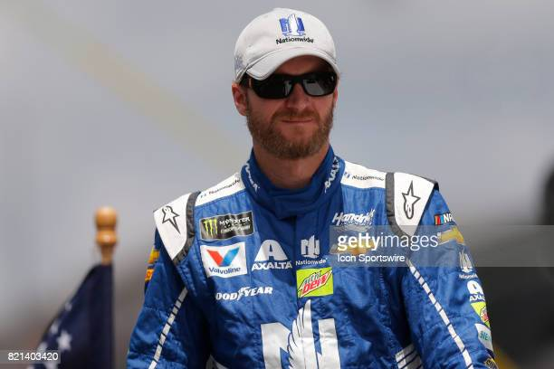 Dale Earnhardt Jr Hendrick Motorsports Chevrolet SS during the NASCAR Monster Energy Cup Series Brantley Gilbert Big Machine Brickyard 400 July 23 at...