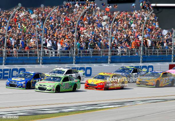 Dale Earnhardt Jr Hendrick Motorsports Mountain Dew Chevrolet SS leads the field to the green flag to start the Alabama 500 Monster Energy Cup Series...