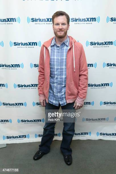 Dale Earnhardt Jr visits at SiriusXM Studios on February 24 2014 in New York City