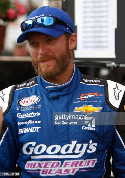Dale Earnhardt jrduring the running of the 36th annual Food City 300 Xfinity race at Bristol Motor Speedway on August 182017