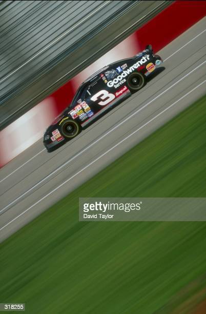 Dale Earnhardt performs during the Diehard 500 at the Talladega Superspeedway in Talladega Alabama