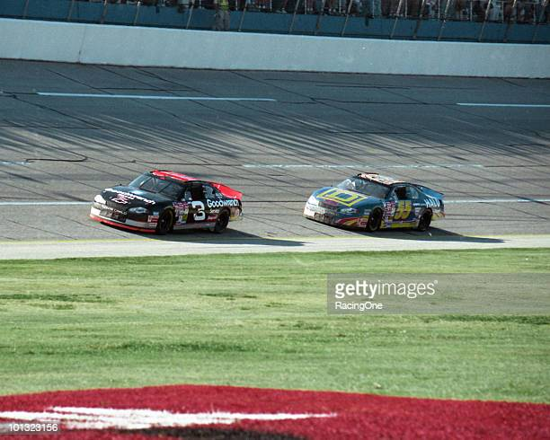 Dale Earnhardt wins the Winston 500 ahead of Kenny Wallace This event was the last to be named after RJ ReynoldsÕ Winston brand as the company...
