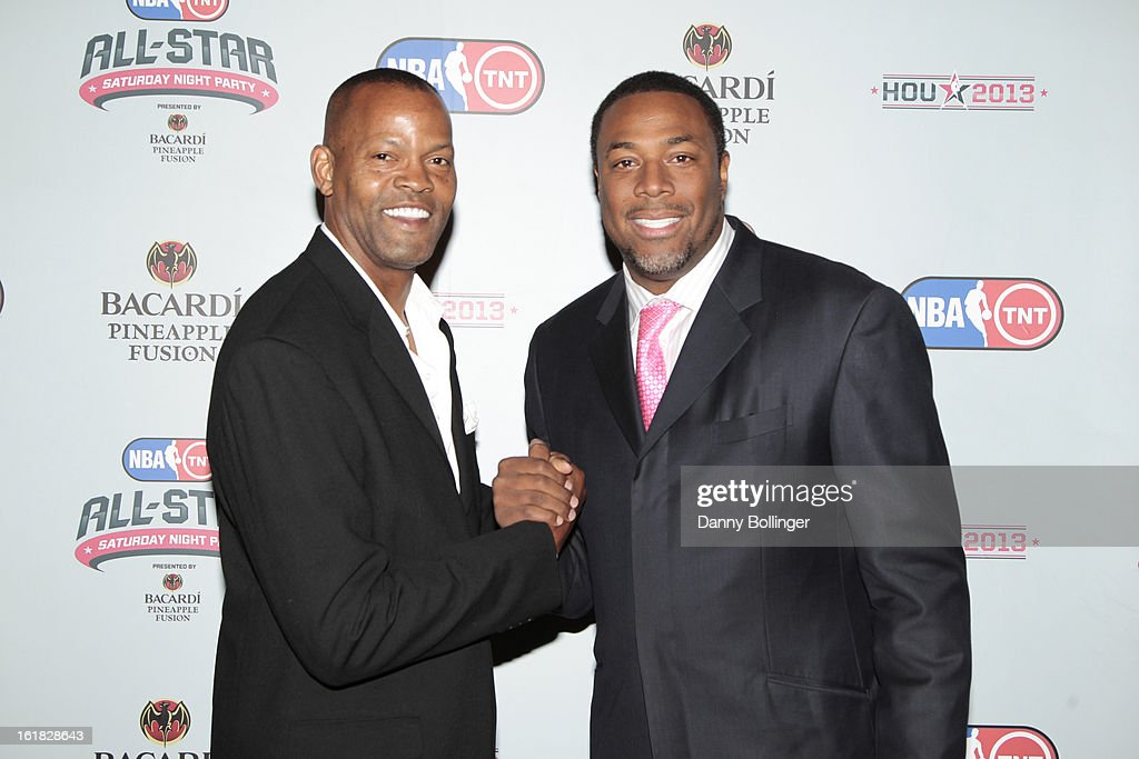Dale Ellis and <a gi-track='captionPersonalityLinkClicked' href=/galleries/search?phrase=Cedric+Ceballos&family=editorial&specificpeople=235791 ng-click='$event.stopPropagation()'>Cedric Ceballos</a> at the NBA on TNT All-Star Saturday Night Party, Presented by Bacardi Pineapple Fusion at House Of Blues on February 16, 2013 in Houston, Texas.
