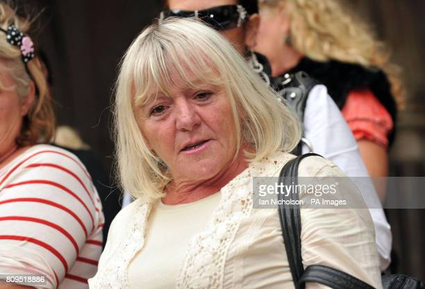 Dale Farm resident Kathleen McCarthy addresses the media at the High Court London after lawyers today failed in a lastditch attempt to prevent the...