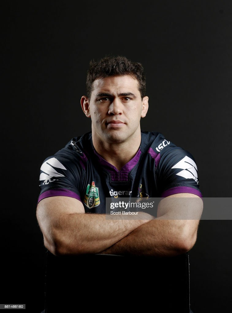 Dale Finucane of the Storm poses for a portrait during a Melbourne Storm NRL training session at Gosch's Paddock on September 25, 2017 in Melbourne, Australia.