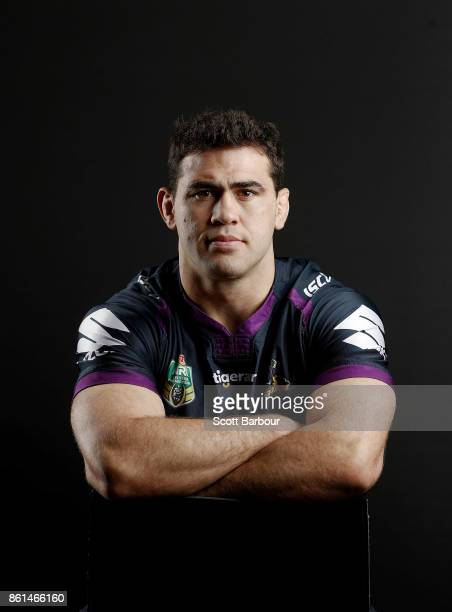 Dale Finucane of the Storm poses for a portrait during a Melbourne Storm NRL training session at Gosch's Paddock on September 25 2017 in Melbourne...