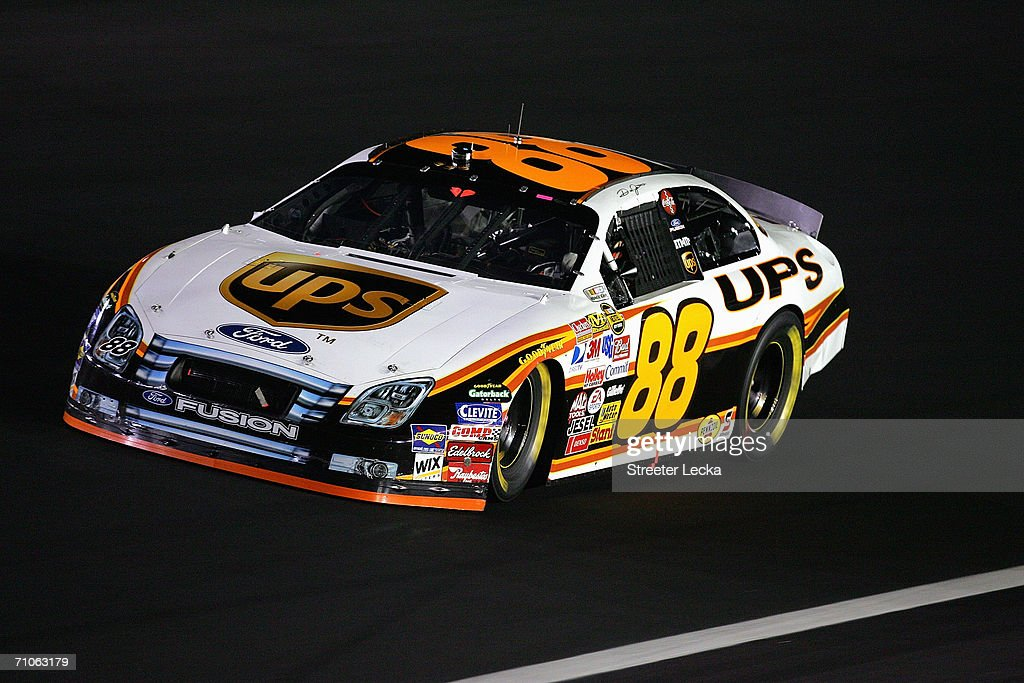 Dale Jarrett drives the UPS Ford during the NASCAR Nextel Cup Series AllStar Challenge on May 20 2006 at Lowe's Motor Speedway in Concord North...