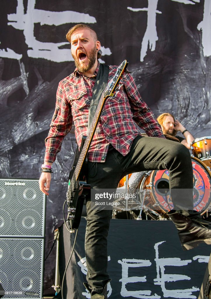 Dale Stewart of Seether performs during 2014 Rock On The Range at Columbus Crew Stadium on May 16, 2014 in Columbus, Ohio.