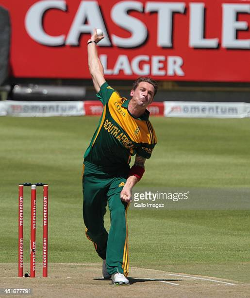 Dale Steyn during the 1st One Day International match between South Africa and Pakistan at Sahara Park Newlands on November 24 2013 in Cape Town...