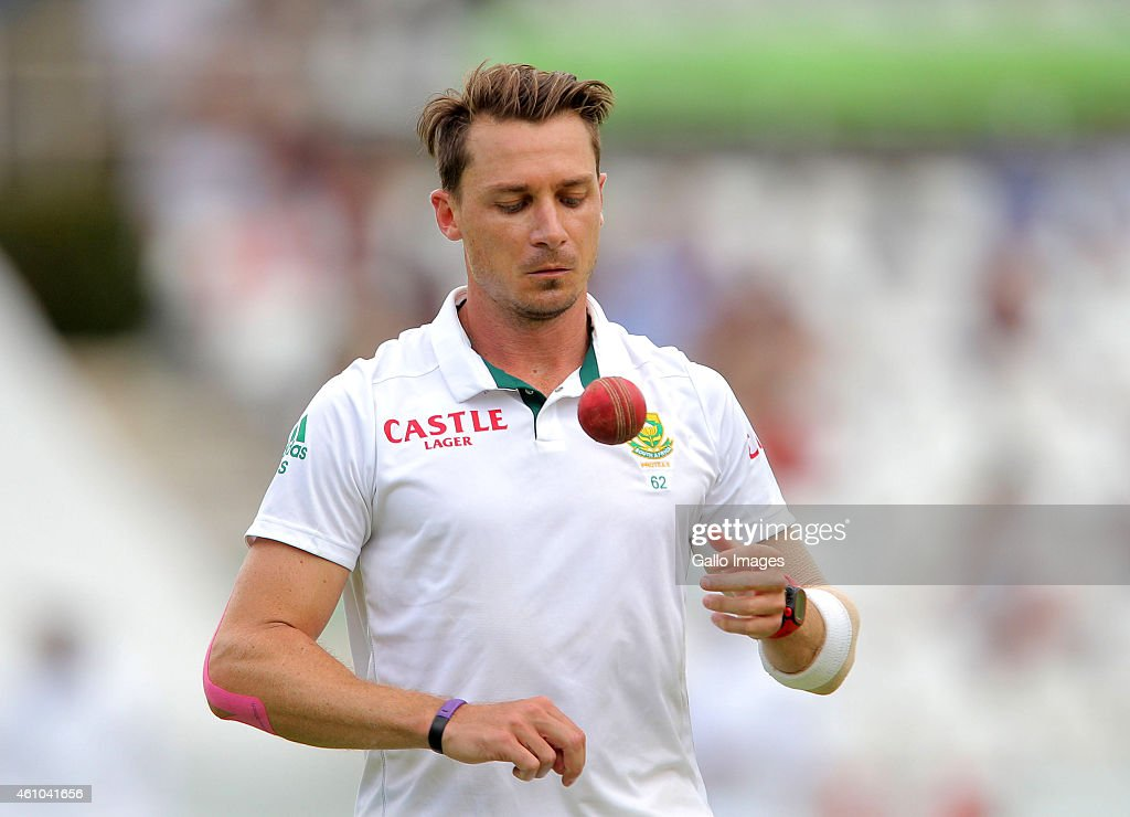 Dale Steyn of South Africa during day 4 of the 3rd Test between South Africa and West Indies at Sahara Park Newlands on January 05 2015 in Cape Town...