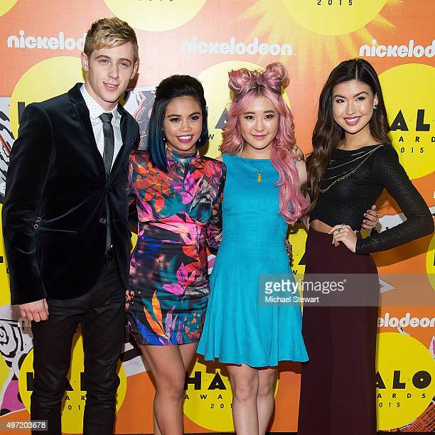 Dale Whibley Louriza Tronco Megan Lee and Erika Tham attend the 2015 Halo Awards at Pier 36 on November 14 2015 in New York City